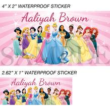Disney Princess Stickers, Personalized Princess Stickers, Waterproof Stickers - $2.00+