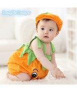 BABY clothing ONEZIES halloween costume PUMPKIN infant rompers toddler c... - $19.99