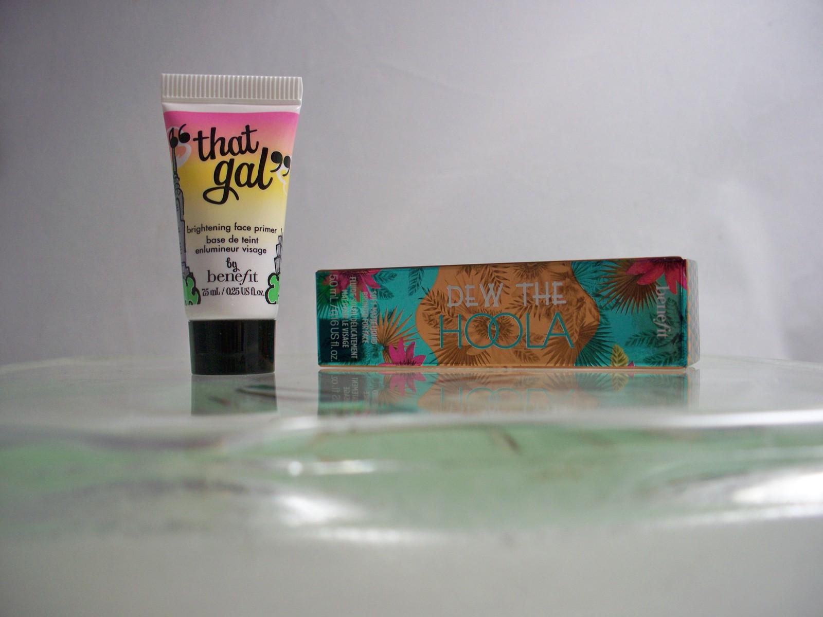Benefit Duo Dew The Hoola Liquid Bronzer plus That Gal Primer both travel size - $16.25