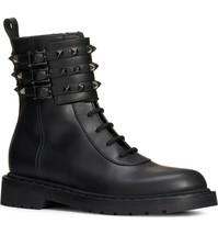 Valentino Garavani Rockstud Buckle Combat Boots Size 35 MSRP: $1,275.00 - $791.99