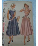 Vintage Simplicity Junior Misses Misses 12 Dress #2357 - $8.99