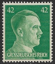 1944 WWII Adolf Hitler Germany Postage Stamp Catalog Number 529 MNH