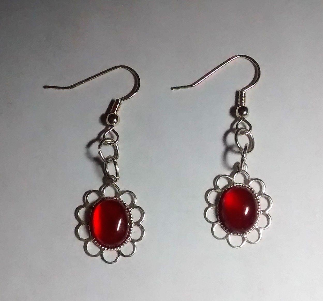 pretty carnelian silver plated dangle earrings