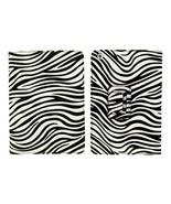 New Black White PU Leather Stand Case Zebra Print Folding Folio For iPad... - $6.92