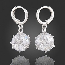Women's Jewelry Pair of Dangling Earrings with Cubic Zirconia Crystals Stones - $14.25