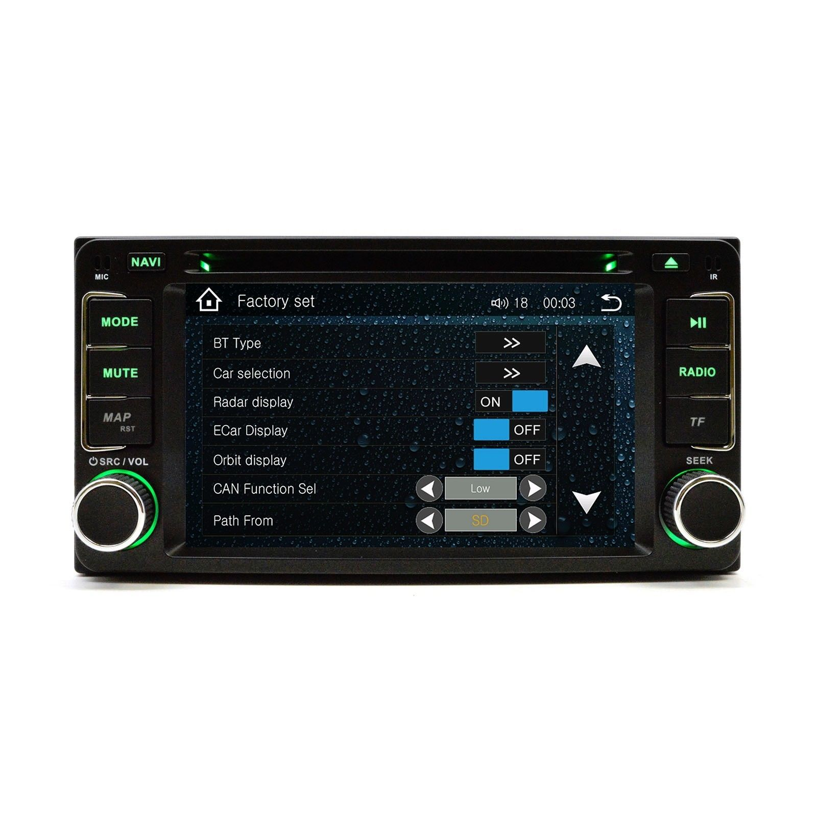 In Dash MulitMedia CD DVD GPS Bluetooth Navigation Radio Head Unit Player Scion
