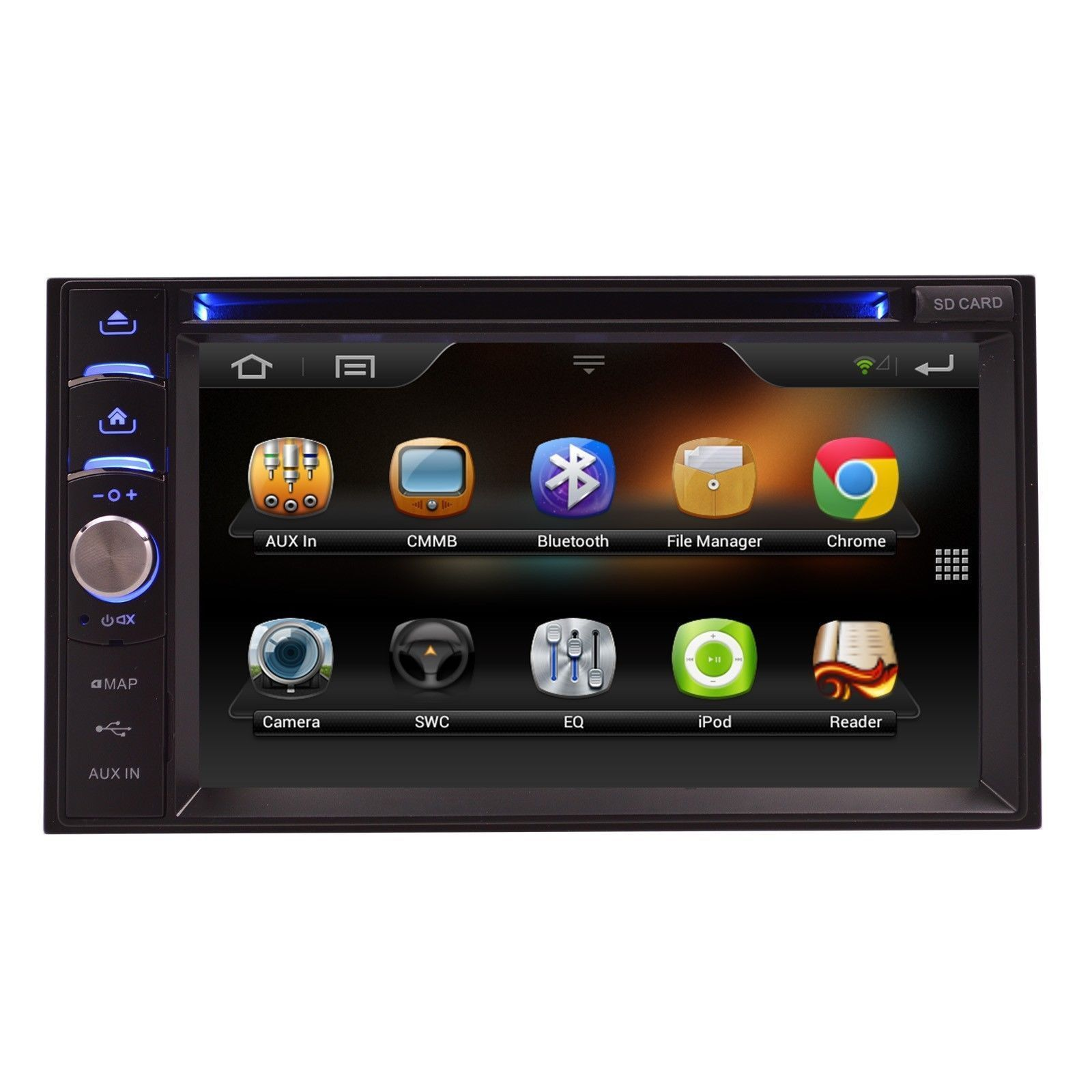 MP3 DVD BLUETOOTH CD DVD AUX OE FIT DOUBLE DIN MULTIMEDIA ANDROUD NAVIGATION