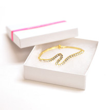 Sterling Silver Gold Plated Jewelry Bracelet Fashion Wedding Engagement Beauty - $8.90