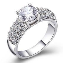 Single Clean Stone Element Crystal Ring Fashionable Jewelry Elegant - $17.99