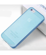 Blue Clear Transparent TPU Silicone Gel Rubber Skin Case Cover for iPhon... - $4.94