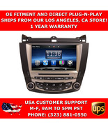 GPS Navigation Radio CD DVD Bluetooth for Honda Accord 03-07 Single Climate - $449.99