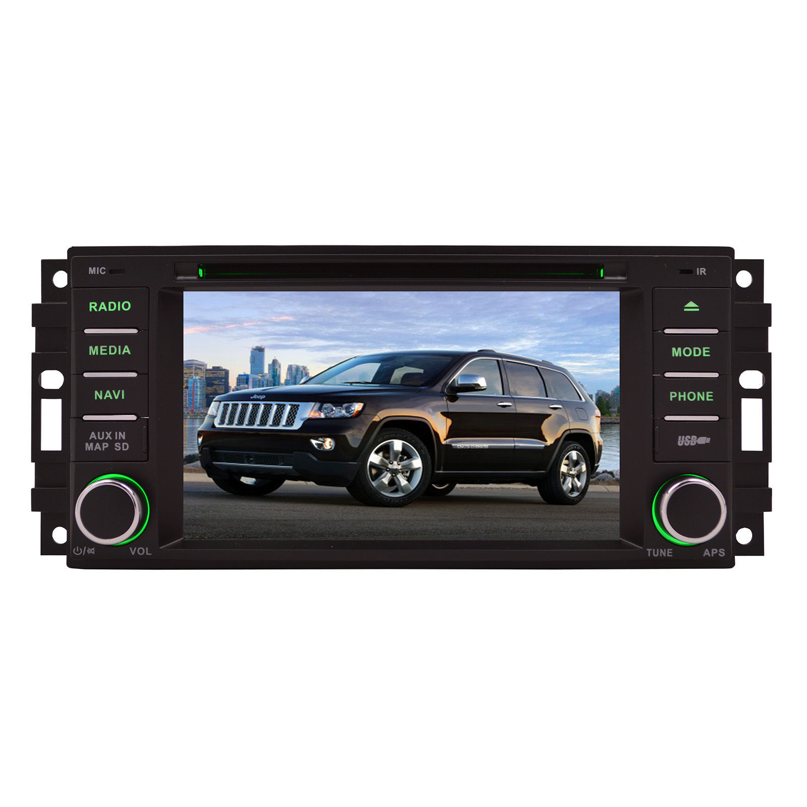 "2008-2011 Chrysler Aspen 6"" GPS Navigation Stereo Radio w/ Bluetooth DVD image 2"