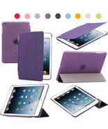 Purple Polyurethane Smart Sleep Wake Cover + PC Hard Plastic Shell For i... - $7.91