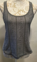 HOLLISTER WOMEN'S GRAY LACE FRONT RACERBACK SHIRT CAMI TANK TOP SIZE M    - $12.99