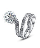 Amazing Stunning Appealing Unique Ring Snake Design Crystals Round Cut J... - $272,65 MXN