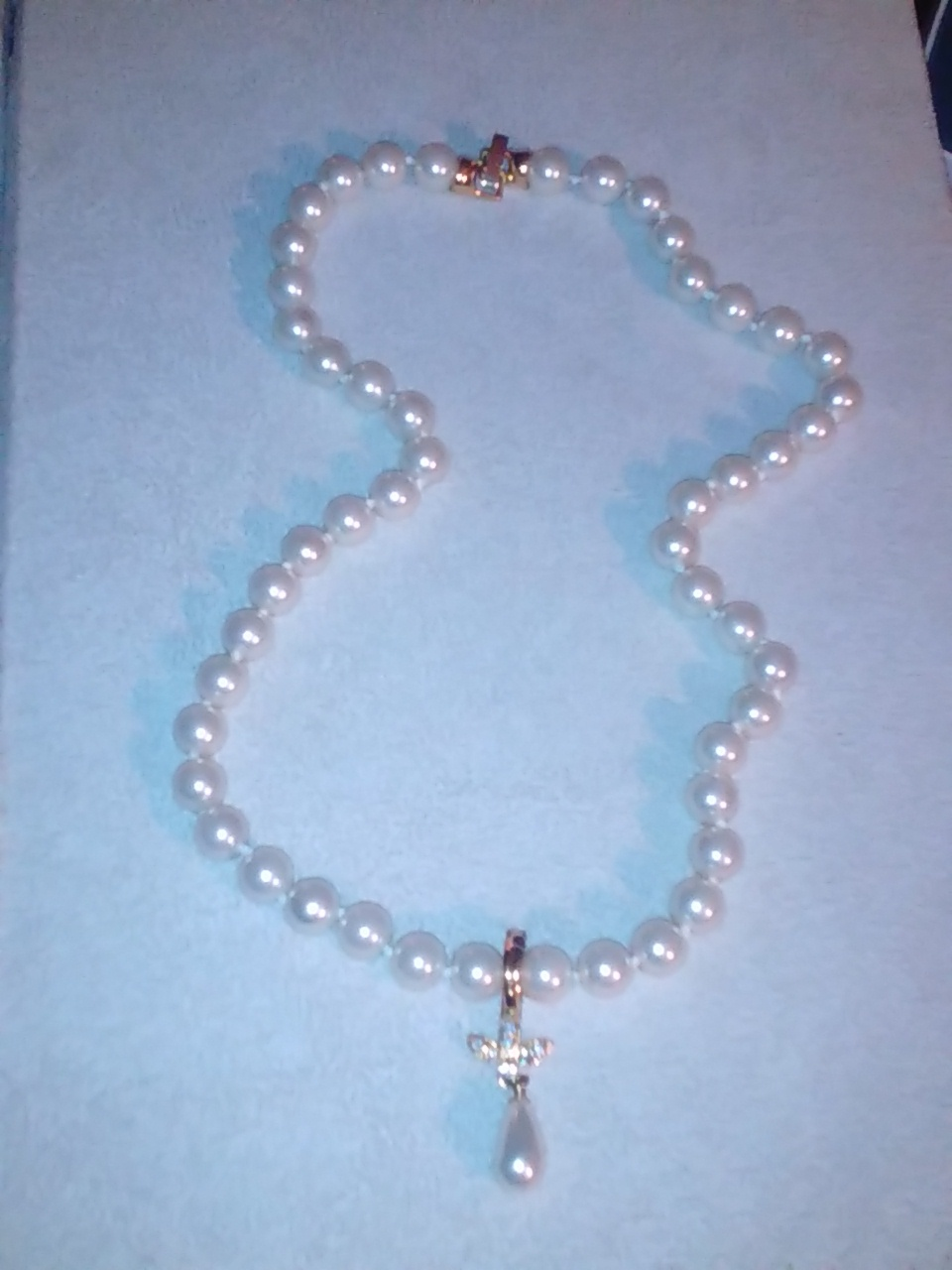 beautiful vintage style pearl necklace reduced