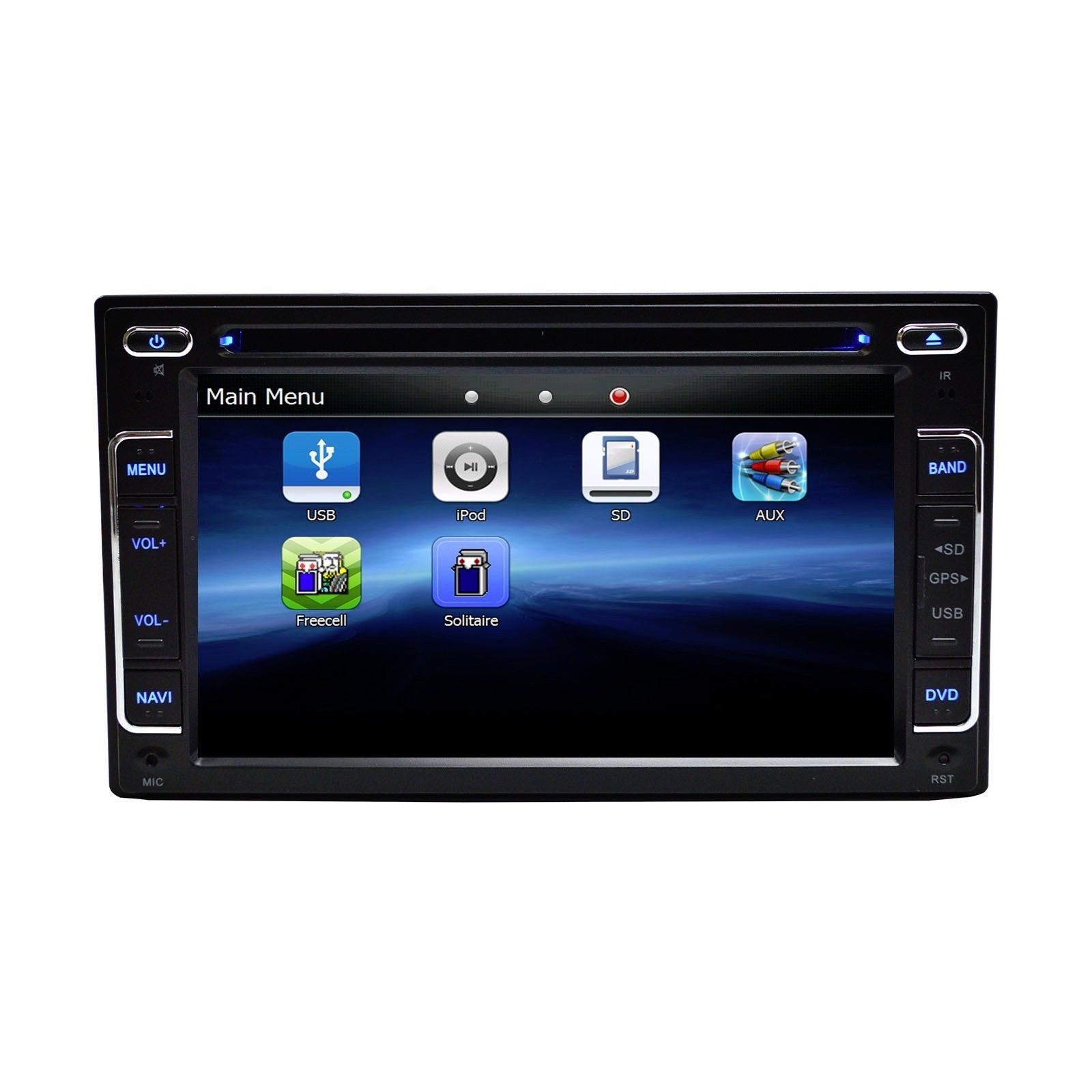 In Dash 2 Din LCD Touch Screen Bluetooth GPS Navigation Radio for VW Jetta 2005+