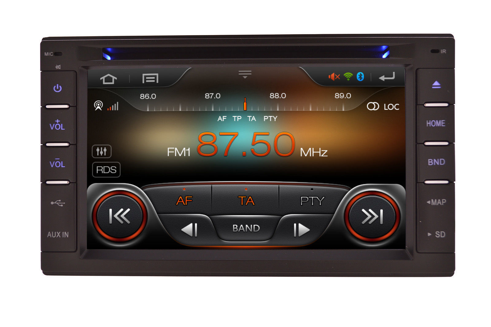 IN DASH DOUBLE DIN MULTIMEDIA NAVIGATION RADIO SYSTEM WITH BLUETOOTH GPS CD DVD image 5