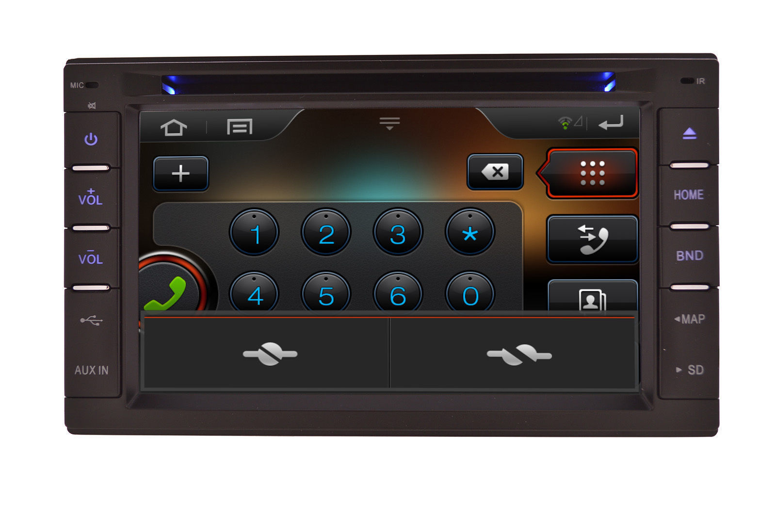 In Dash Navigation System : In dash double din multimedia navigation radio system with
