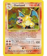 Charizard 4/102 Holo Rare Base Unlimited Pokemon Card  - $129.98