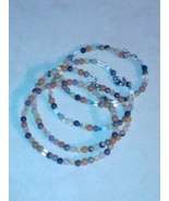 Handcraft Natural beaded gemstone bracelets on wire - $15.00