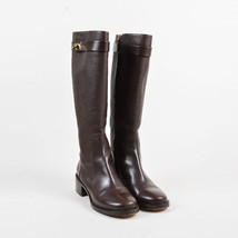 "Givenchy ""Cigare"" Brown Grained Calfskin ""Shark Lock Riding"" Boots SZ 39 - $505.00"