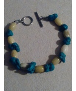 Turquoise and Jade  handcraft bracelet - $12.50