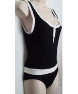 WOMEN'S BLACK/WHITE ONE PIECE SWIMSUIT, SIZE SMALL - $18.95