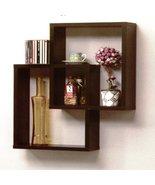 Two Piece Wood Constructed Rectangle Wall Shelf (Walnut) - $75.95