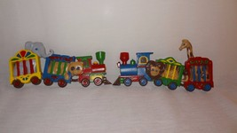 Pair Circus Train Burwood Products Wall Plaque Nursery Child's Room Plastic - $13.68