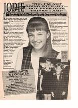 Jodie Sweetin Jonathan Taylor Thomas teen magazine pinup clipping Full House Bop