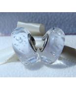 Clear Effervescence Fizzle Murano Glass Charm Bead For European Bracelet - $9.99
