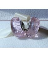 Pink Effervescence Fizzle Murano Glass Charm Bead For European Bracelet - $9.99