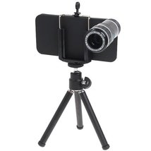 12x Plastic Mobile Camera Telephoto Lens for Iphone 5 with Tripod - $23.99