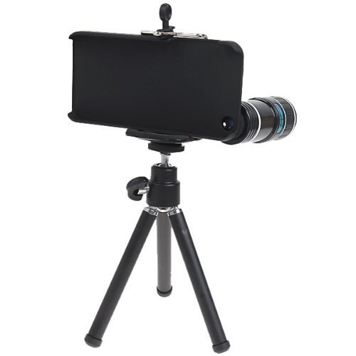 12x Plastic Mobile Camera Telephoto Lens for Iphone 5 with Tripod
