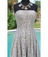 Cache $188 METALLIC LACE STRAPLESS EVENT DRESS NWT 2/4/6/8/10/12 Lined S... - £74.39 GBP