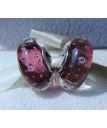 Purple Effervescence Fizzle Murano Glass Charm Bead For European Bracelet - $9.99
