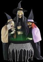 Coven of 3 Witches Sisters Animated Halloween Prop  - €197,89 EUR