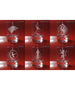 Set of 6 Shot Glasses Game of thrones, Stark, Baratheon, Targaryen, Aryyn,  - $39.99