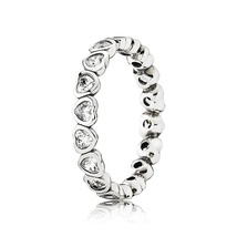 925 Sterling Silver Forever More Stackable Ring with Clear Zirconia For Women - $22.99