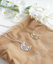 I Love You To The Moon & Back Crescent Half Moo... - $15.63