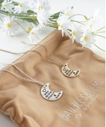 I Love You To The Moon & Back Crescent Half Moon Necklace Gold or Silver - $15.63