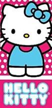 Hello Kitty Beach Towel 28 x 58 inches Sanrio Pink White Blue  - $24.74