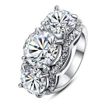 1.5ct Swarovski Element Crystal 18k White Gold Plated Emulational Diamon... - $18.57