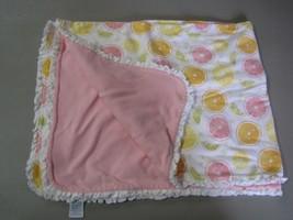 VTG Gymboree 2002 Citrus Lemon Lime Orange Fruit Baby Blanket Ruffle Tri... - $79.18