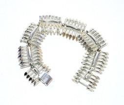 vintage Coro chunky silver bracelet wide link - $7.42