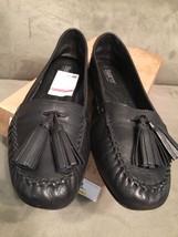 Born  Alawa Black Womens Flat Loafer Shoes w/ Tassles US 6.5 / EU 37 w/ Box - $19.69
