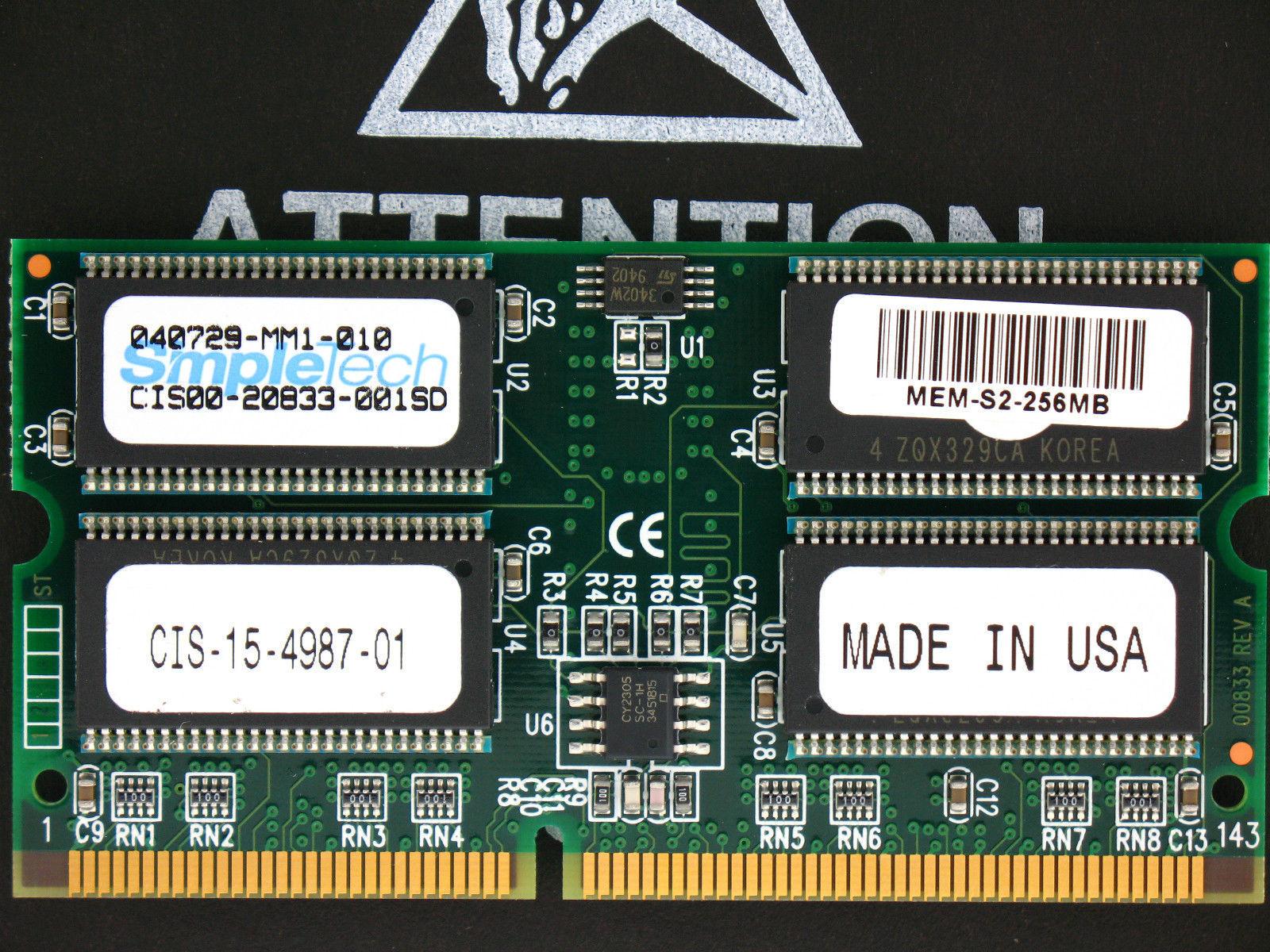 MEM-S1-128MB MEM-MSFC-128MB 128MB Cisco 6000 6500 Supervisor 1A Memory 2 x 64MB