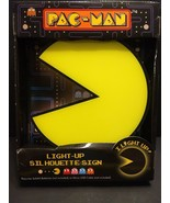 New retro 1980's arcade yellow Pac Man LIGHT UP silhouette game room sign - $29.97
