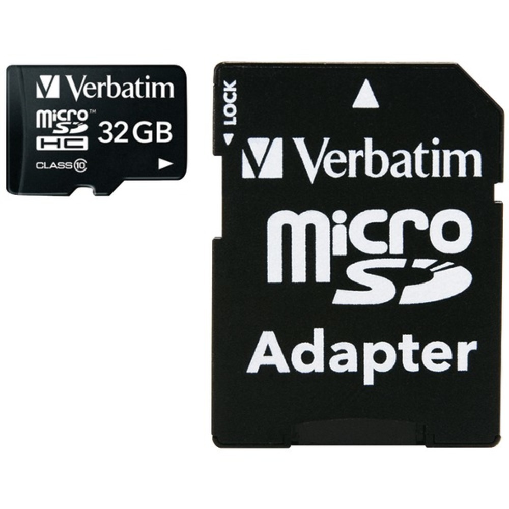 Primary image for Verbatim 44083 microSDHC Card with Adapter (32GB; Class 10)